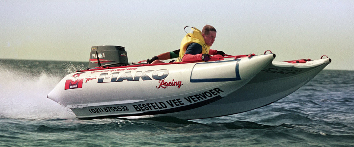 Mako Mk 5 High Speed inflatable racing boat
