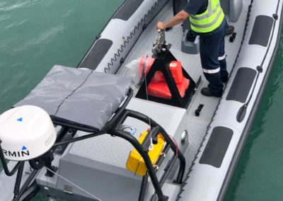Semi rigid inflatable boat