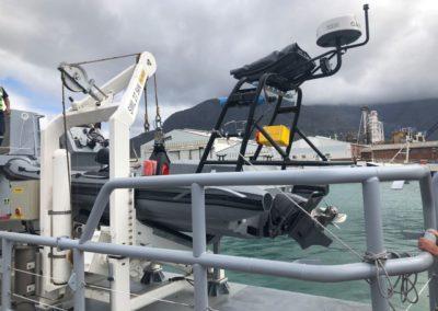 Mako Africa military semi rigid inflatable boat