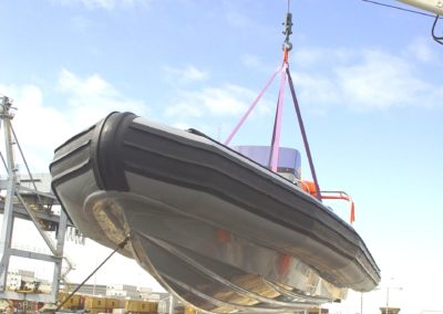 7.2m Rigid Hull Inflatable Boat(RHIB) being lifted