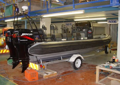 7.2m commercial RIB side view