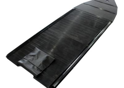Aluminum rigid floorboards